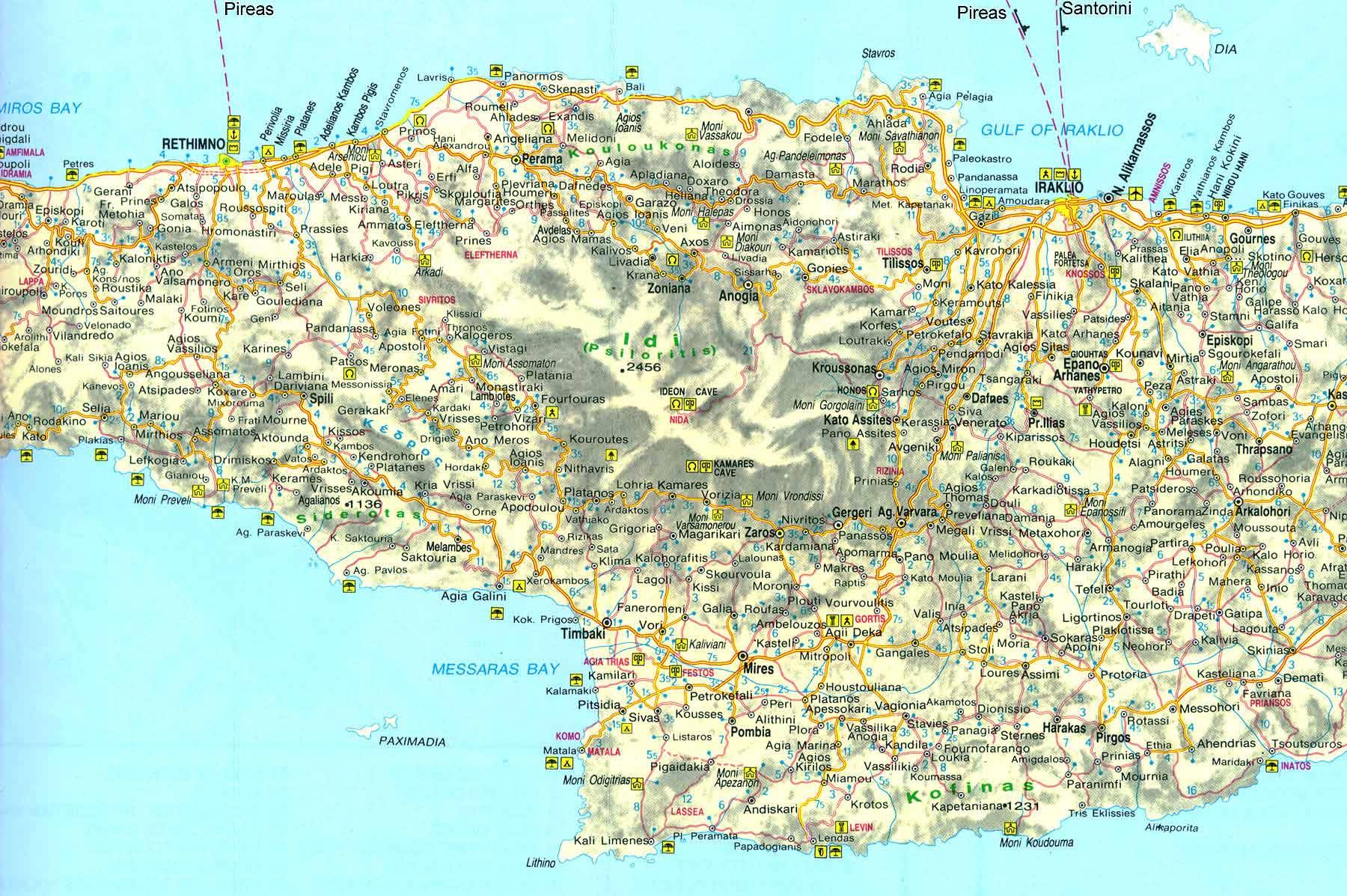 map of central crete