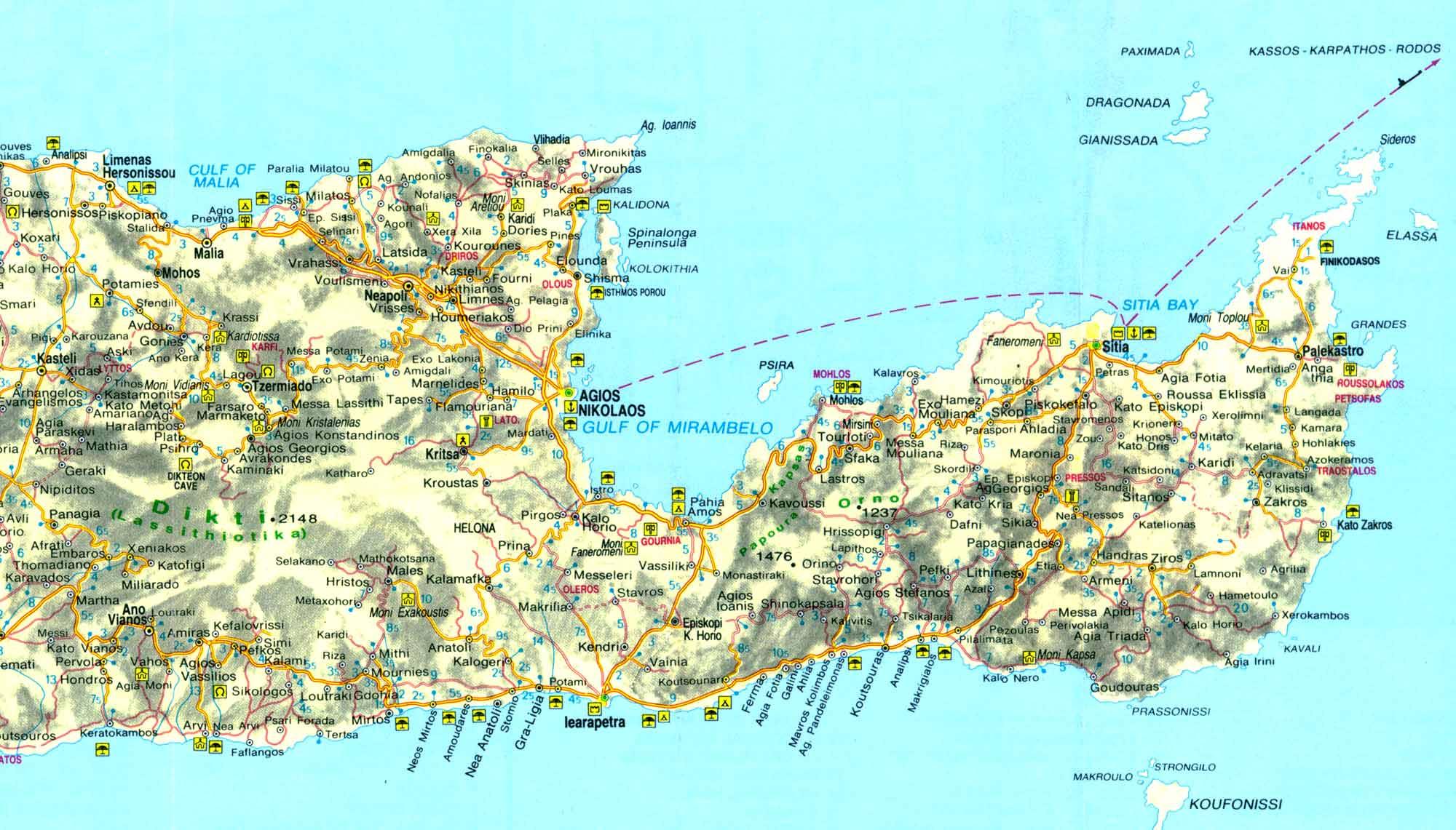 maps of crete and east crete