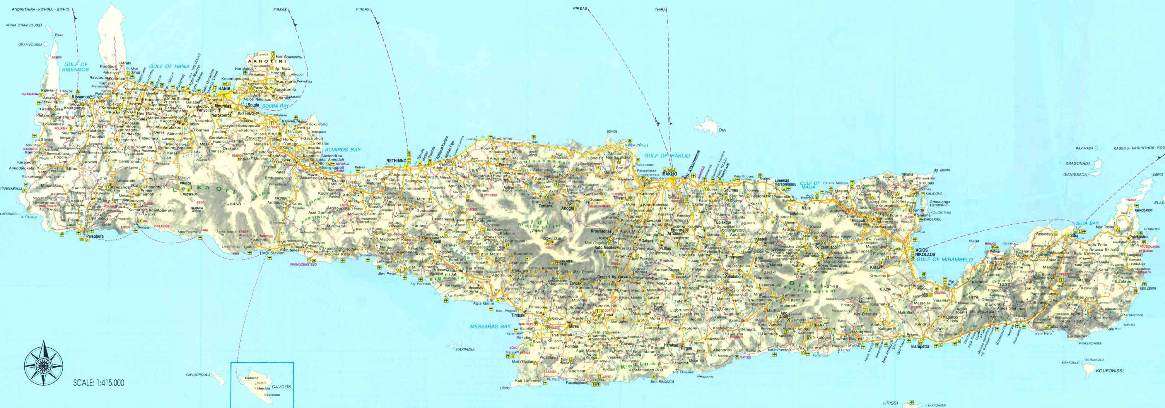 Kreikka Kreeta Crete Knossos Aptera Hania Chania Heraklion